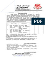 Mission Shakti Subarnapur Letter Pad
