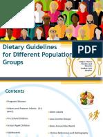 Dietetic Guidelines Short Version