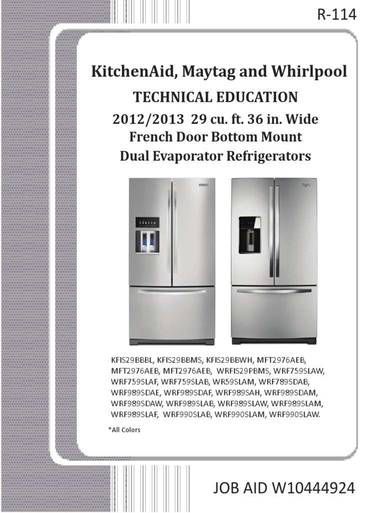 Whirlpool French Door Service Manual 2012-13