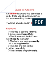 Adjectives and Adverbs Exercises