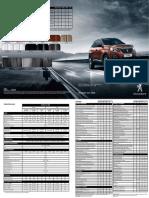 Peugeot 3008 Donanım Tablosu