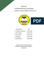 MAKALAH SPM Organisasi Jasa & Lembaga Keuangan
