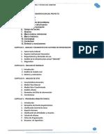 Indice Tematico Proyecto de grado