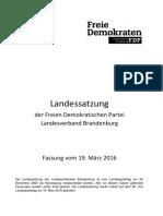Landessatzung FDP Brandenburg 2016-03-19