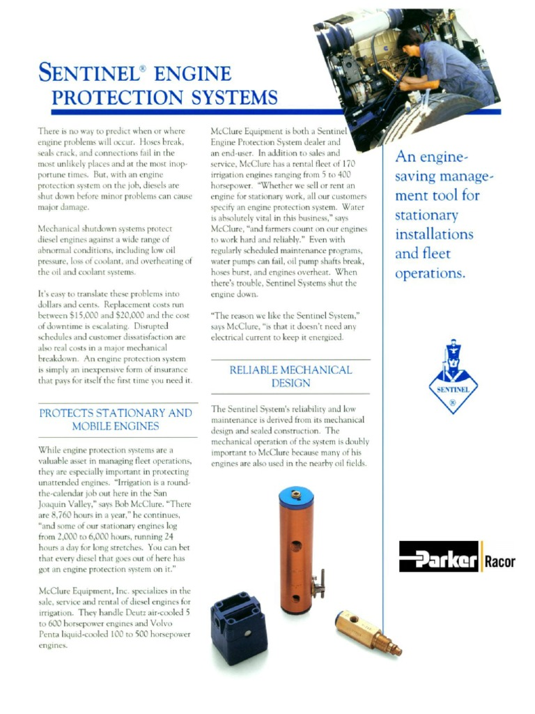 PARKER Sentinel Engine Protection Systems | Engines | Diesel