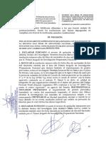 Resolución sobre investigados Luis Mejía Lecca y Vicente Silva Checa