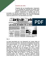 El Temporal Del Puente de La Inmaculada de 1991 en Canarias