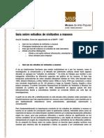 Guia sobre estudios de visitantes a museos Ana M. Cousillas. Curso de capacitación en el INAPP - 1997
