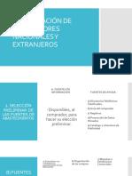 Investigación de Proveedores Nacionales y Extranjeros