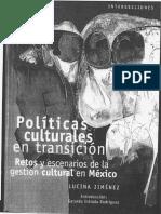 Politicas Culturales en Transición