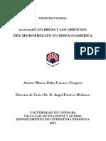 El poema en prosa y los orígenes del microrrelato en Hispanoamérica