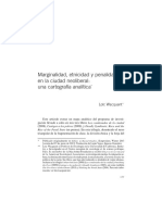 Wacquant Marginalidad Etnicidad y Penalidad en La Ciudad Neoliberal Una Cartografía Analítica