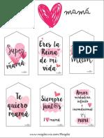 Etiquetas Descargables Dia de La Madre