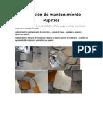 Cotización de Mantenimiento Pupitres