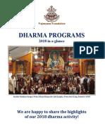 Dharma Newsletter 2018r