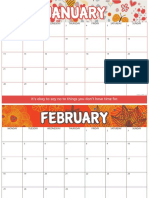 2019 Blank Calendar Printable