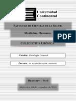 COLECISTITIS CRÓNICA - Monografía