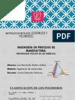 Materiales No Metalicos (Ceramicos y Polimeros).