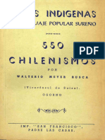 Diccionario de Chilenismos Surenos Voces Indigenas
