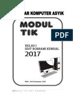 Modul TIK kelas 1 SD