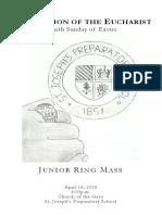 junior ring mass - 2016