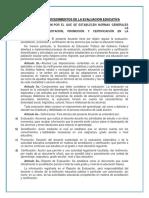 Normas y Procedimientos de La Evaluacion