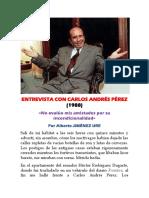 Entrevista Con Carlos Andrés Pérez (1988) Mérida-Venezuela