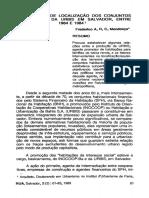 Frederico A. R. C. Mendonça - A Estratégia de Localização Dos Conjuntos Habitacionais Da URBIS Em Salvador, Entre 1964 e 1984