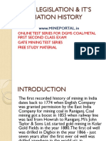 Mine Legislation Formation History_584