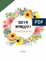 Label Minggu Persekolahan 2019 A