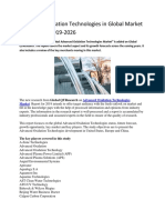 Advanced Oxidation Technologies in Global Market Forecasts to 2019