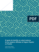 El gasto de bolsillo en salud materna de las mujeres afiliadas al Seguro Social en Puebla