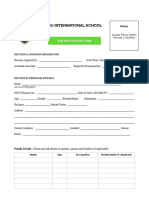 Job Application Form AIU InternationalSchool