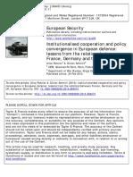 EUR SEC Institutionalisedcooperationpolicyconvergenceineuropeandefence