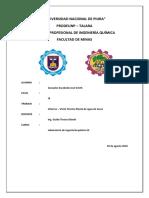 Informe Planta Agua