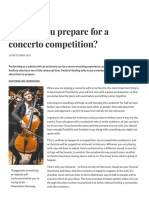 How do you prepare for a concerto competition? | Focus | The Strad