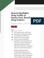 Report Spotlights Drug Traffic at Santos Port, Brazil's Drug Policies.pdf