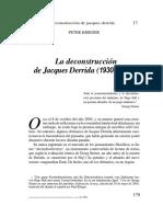 La Deconstrucción de Jacques Derrida