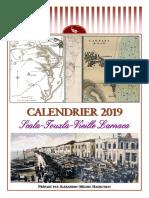 2019 calendar - Scala-Touzla-Old Larnaca (French)