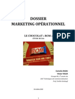 Étude Cas Marketing Opérationnel - Le chocolat ROM