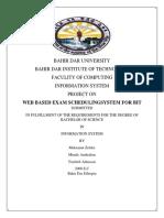ExamScheduling System Documentation