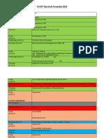 Draft Timetable 2019