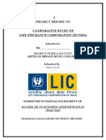 Project Report on Lic India
