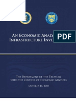 Treasury on Infrastructure Investment Report