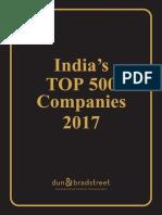 India Stop 500 Companies 2017