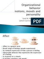Organizational Behavior Emotions and Moods LGU