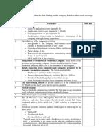 New Listing Checklist