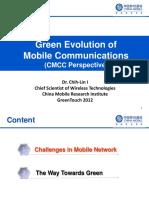 Green Evolution of Mobile Communications