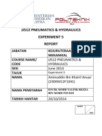 JJ512 PNEUMATICS & HYDRAULICS. BEGIN EVERYTHING WITH BISMILLAH. Experiment 5