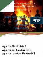 Tugas Produksi Logam dengan Elektrolisis Aqueous (Kelompok 6)(1).pptx